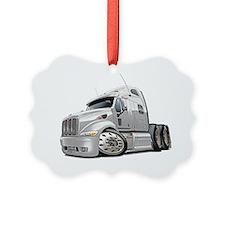 Peterbilt 587 White Truck Ornament