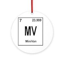 minivan Round Ornament