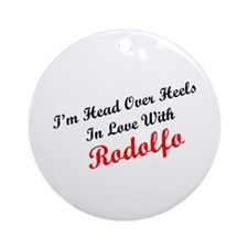 In Love with Rodolfo Ornament (Round)