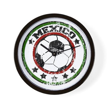 socceramexicoroundd Wall Clock