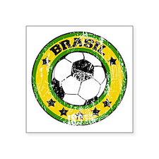 "soccerbrasilroundd Square Sticker 3"" x 3"""