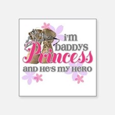 "Daddys Princess Square Sticker 3"" x 3"""