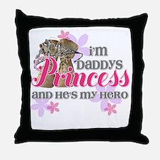 Daddys Princess Throw Pillow
