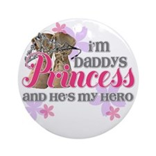 Daddys Princess Round Ornament