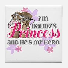 Daddys Princess Tile Coaster