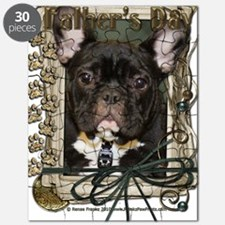 French_Quarters_French_Bulldog_Teal Puzzle