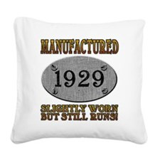 1929 Square Canvas Pillow