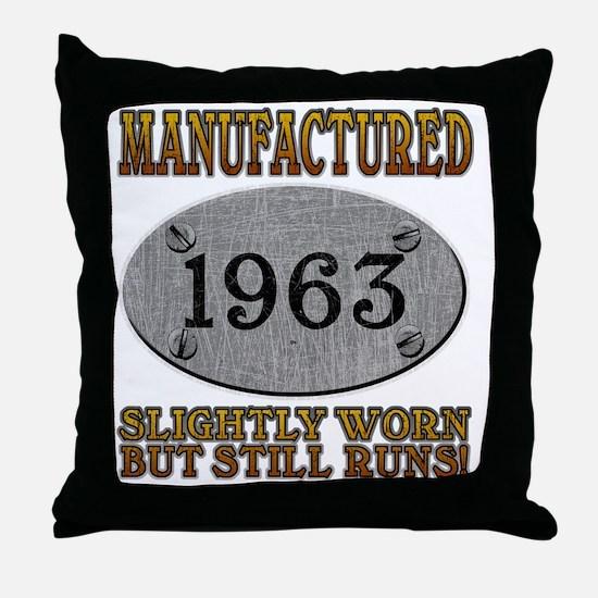 1963 Throw Pillow