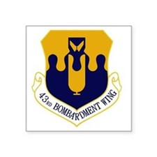 "43rd Bomb Wing Square Sticker 3"" x 3"""
