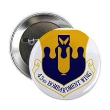 "43rd Bomb Wing 2.25"" Button"