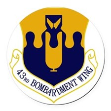43rd Bomb Wing Round Car Magnet