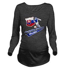 slovakian_soccer Long Sleeve Maternity T-Shirt