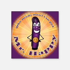 """Mr Happy new Square Sticker 3"""" x 3"""""""