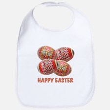 Four Colorful Easter Eggs Bib