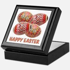 Four Colorful Easter Eggs Keepsake Box