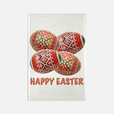 Four Colorful Easter Eggs Rectangle Magnet