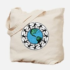 Disc Golfing Planet Earth Tote Bag