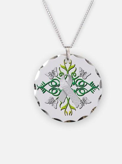 White Survivor Necklace