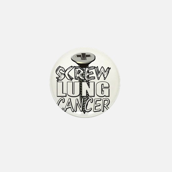 Screw Lung Cancer Mini Button