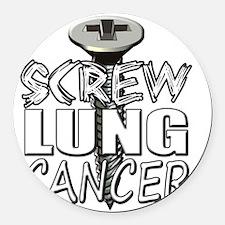 Screw Lung Cancer Round Car Magnet