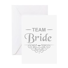 Team Bride in silver Greeting Cards
