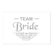 Team Bride in silver Postcards (Package of 8)