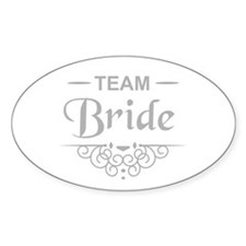 Team Bride in silver Decal