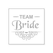 Team Bride in silver Sticker