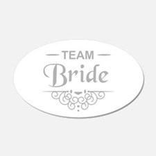 Team Bride in silver Wall Sticker