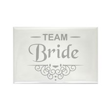 Team Bride in silver Magnets