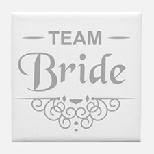 Team Bride in silver Tile Coaster