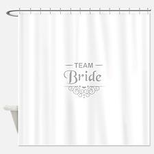 Team Bride in silver Shower Curtain