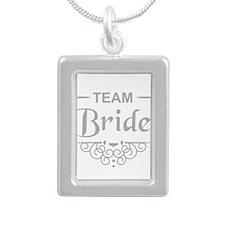 Team Bride in silver Necklaces