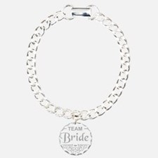 Team Bride in silver Charm Bracelet, One Charm