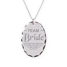 Team Bride in silver Necklace