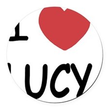 LUCY01 Round Car Magnet
