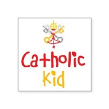 "CatholicKid_Both Square Sticker 3"" x 3"""