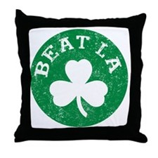 Beat LA -dk Throw Pillow