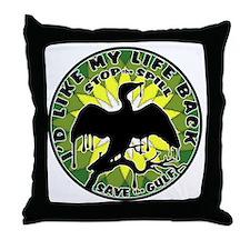 Id Like my life back green yell lite Throw Pillow