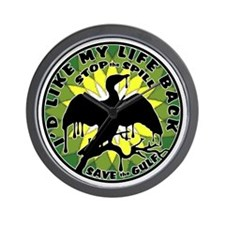 Id Like my life back green yell lite Wall Clock