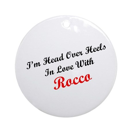 In Love with Rocco Ornament (Round)