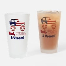 20100526 - RedWhiteNVroom-v2-ForWhi Drinking Glass