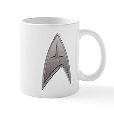 STAR TREK Silver Metallic Insignia Small Mug