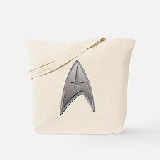 STAR TREK Silver Metallic Insignia Tote Bag
