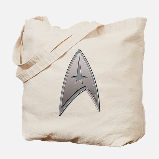 STAR TREK Silver Metallic Insignia Tote Bag
