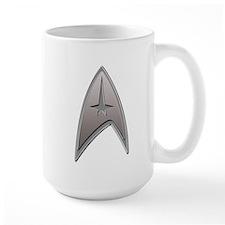 STAR TREK Silver Metallic Insignia Mug