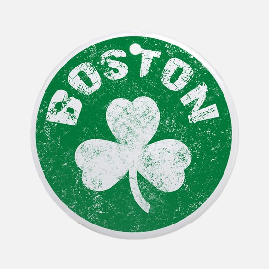 Boston Round Ornament