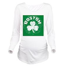 Boston Btn Long Sleeve Maternity T-Shirt