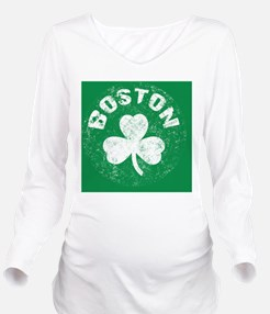 Boston Btn Long Sleeve Maternity T-Shirt
