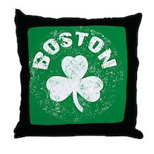 Boston Btn Throw Pillow